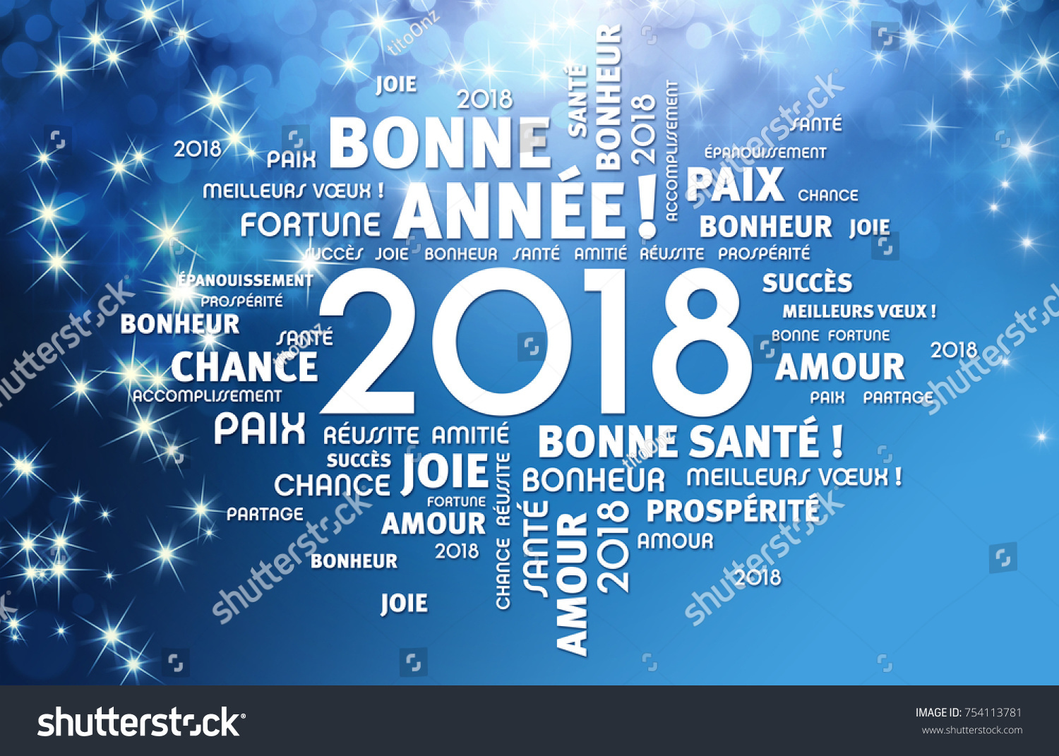 Greeting words french around new year stock illustration 754113781 greeting words in french around new year date 2018 on a festive blue background kristyandbryce Choice Image