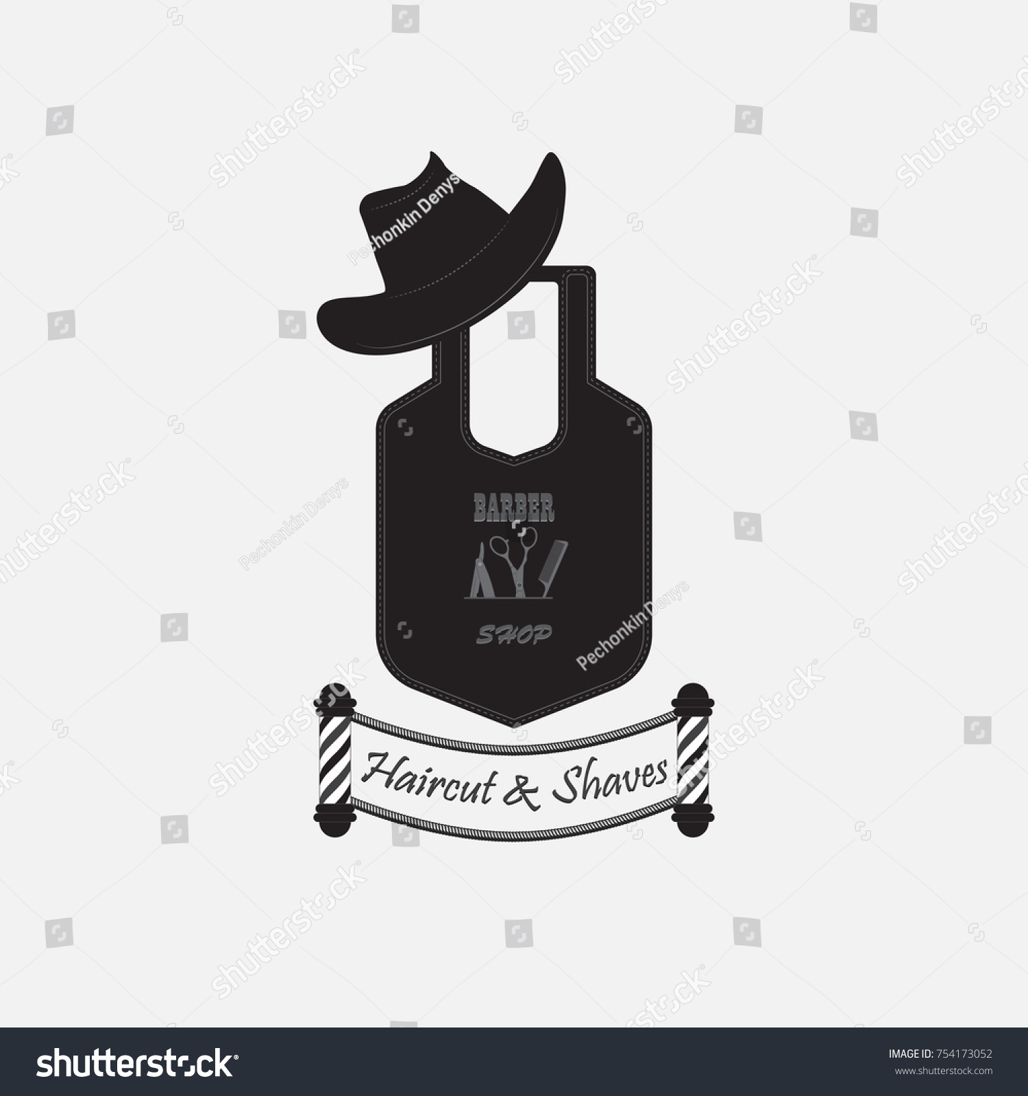Vector Image Objects Symbolizing Barber Shop Stock Vector