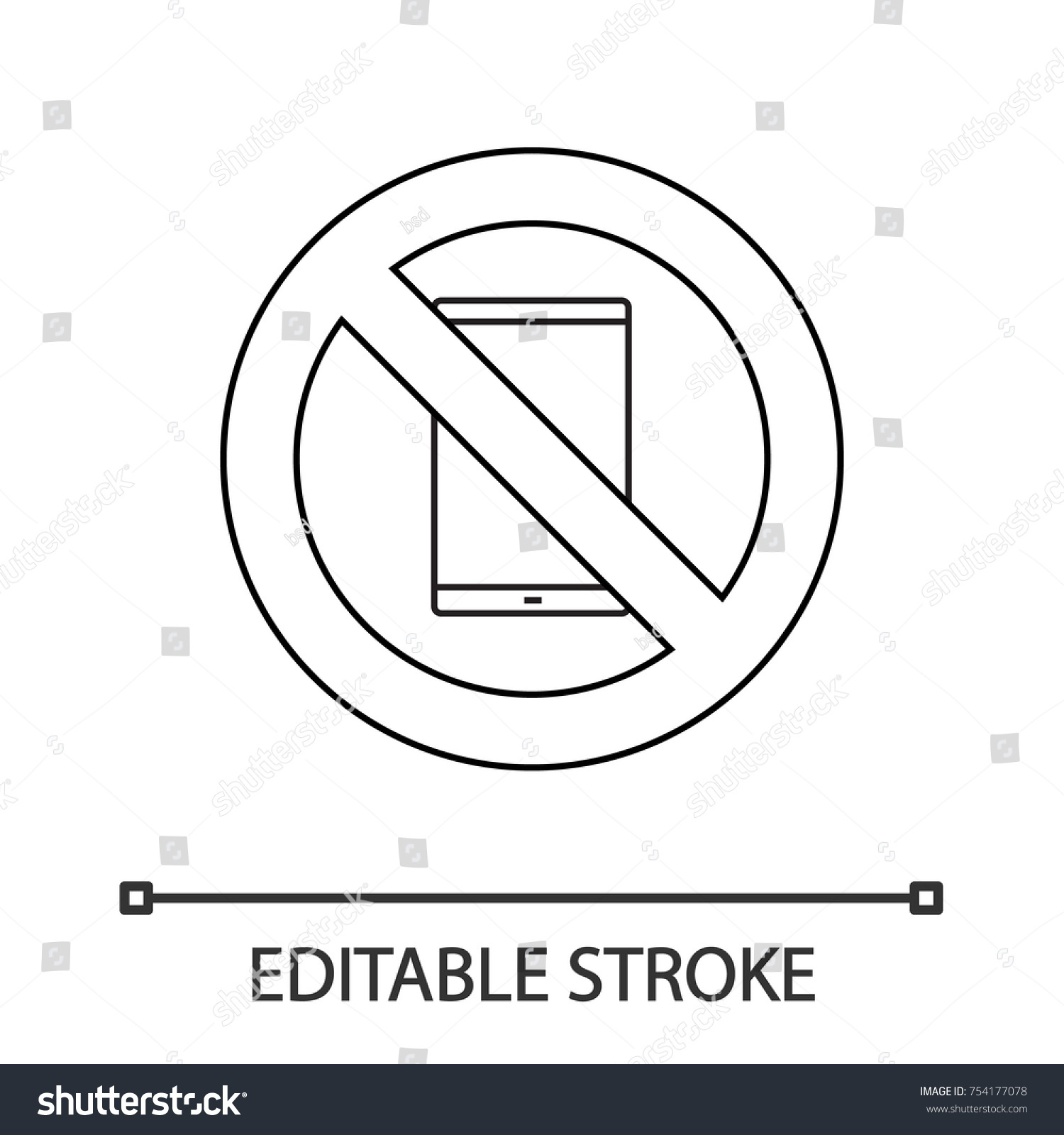 Forbidden sign tablet computer linear icon stock vector 754177078 forbidden sign tablet computer linear icon stock vector 754177078 shutterstock biocorpaavc