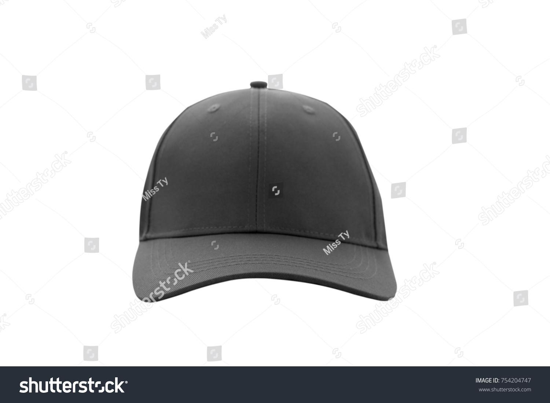 0c6ede5b256 Baseball Cap Black Templates Front Views Stock Photo (Edit Now ...