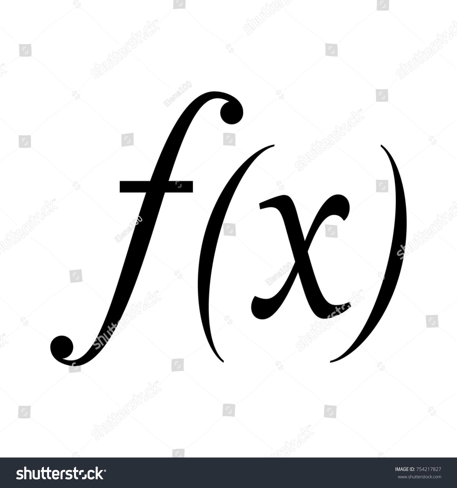 Math Symbol Function X Vector Stock Vector Royalty Free 754217827