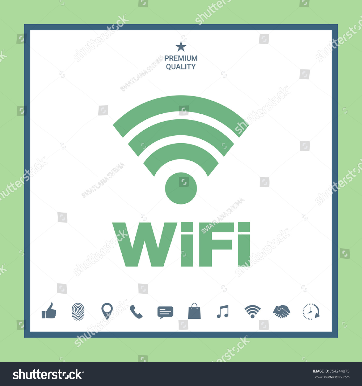 Internet connection symbol icon stock vector 754244875 shutterstock internet connection symbol icon buycottarizona Images