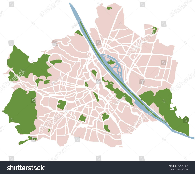 Vienna austria vector map stock vector 754252084 shutterstock vienna austria vector map gumiabroncs Gallery