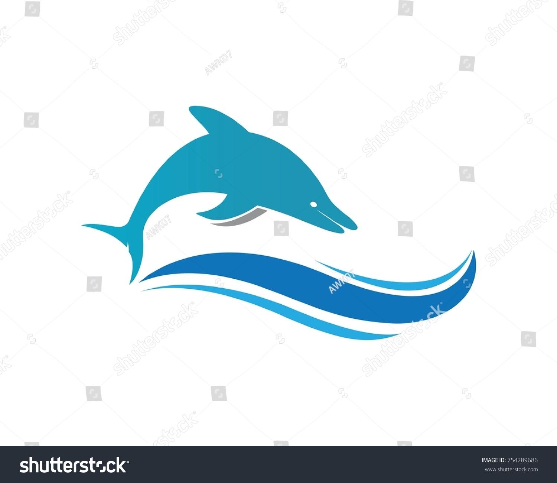 Dolphin Logo Icon Vector Template Stock Vector 754289686 - Shutterstock