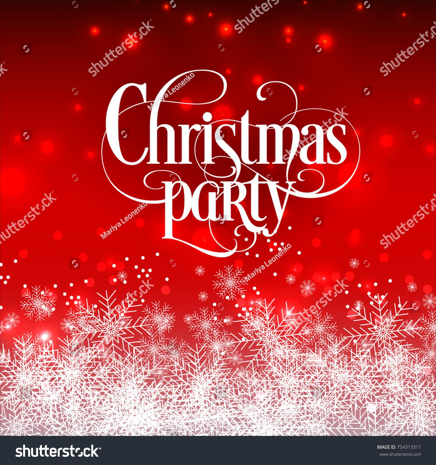 Christmas Party Invitation Winter Holiday Card Stock Vector (Royalty ...