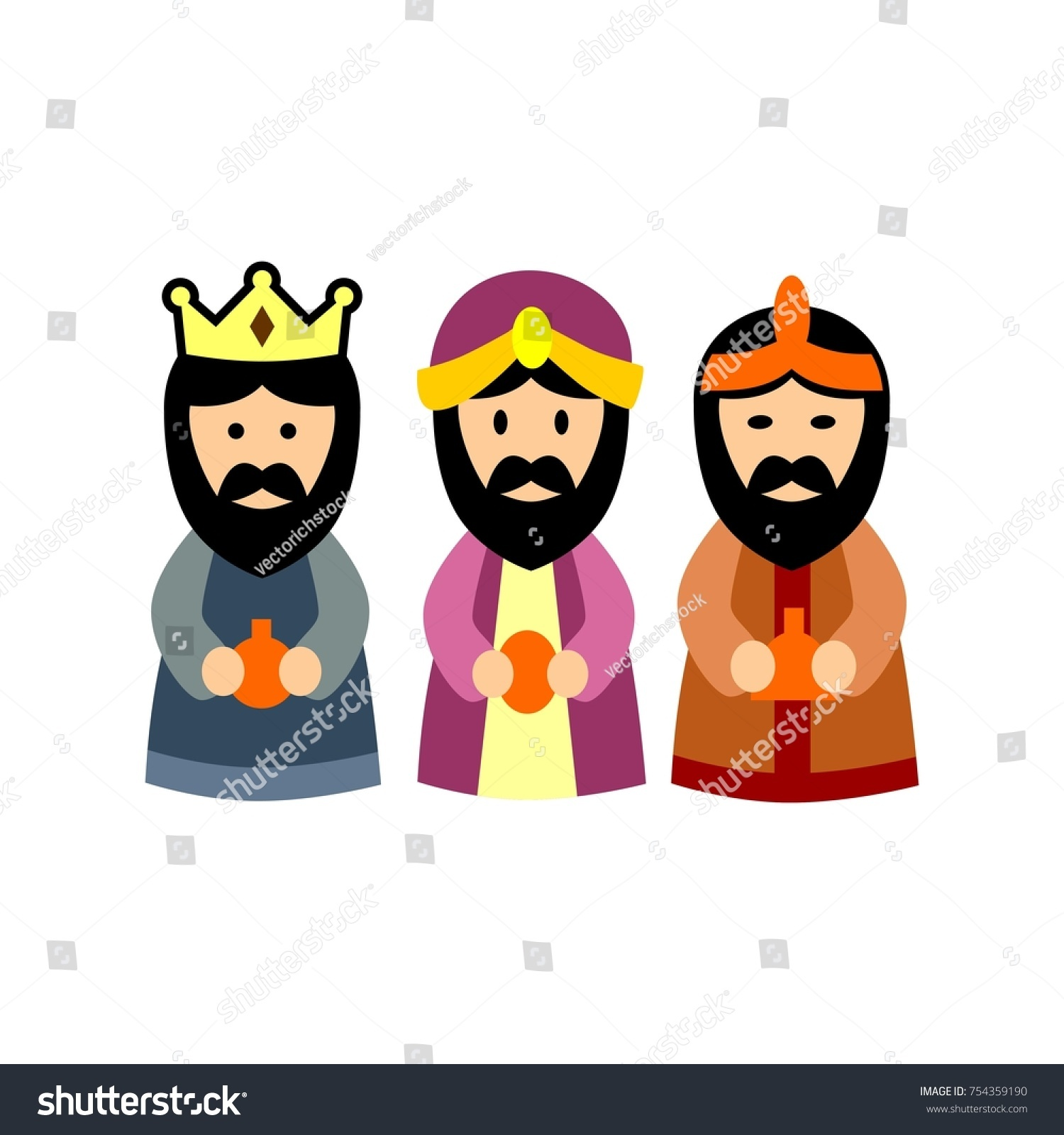 Happy Three Kings Day Stock Vector 754359190  Shutterstock
