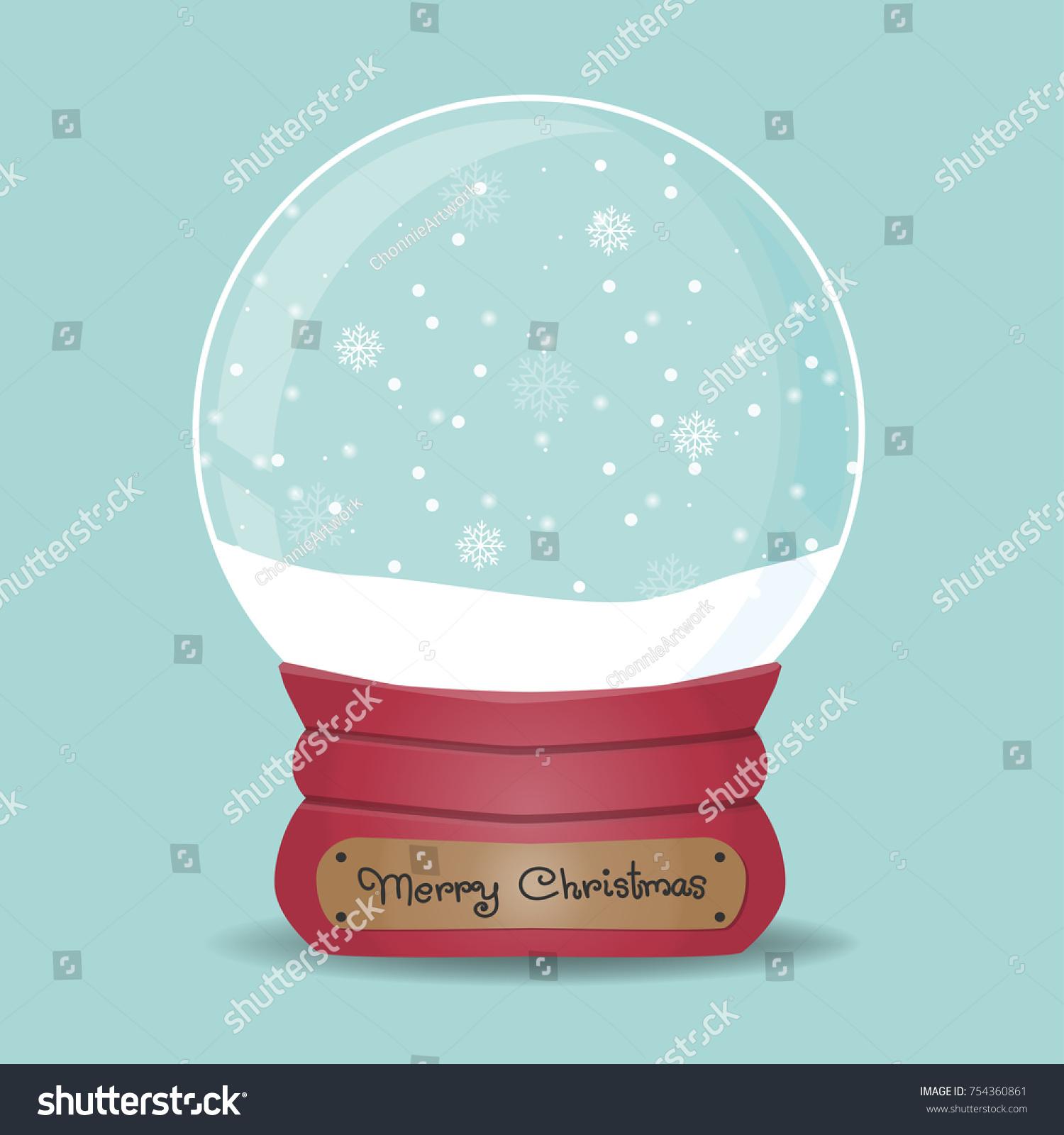 christmas card snow globe falling snow stock vector royalty free