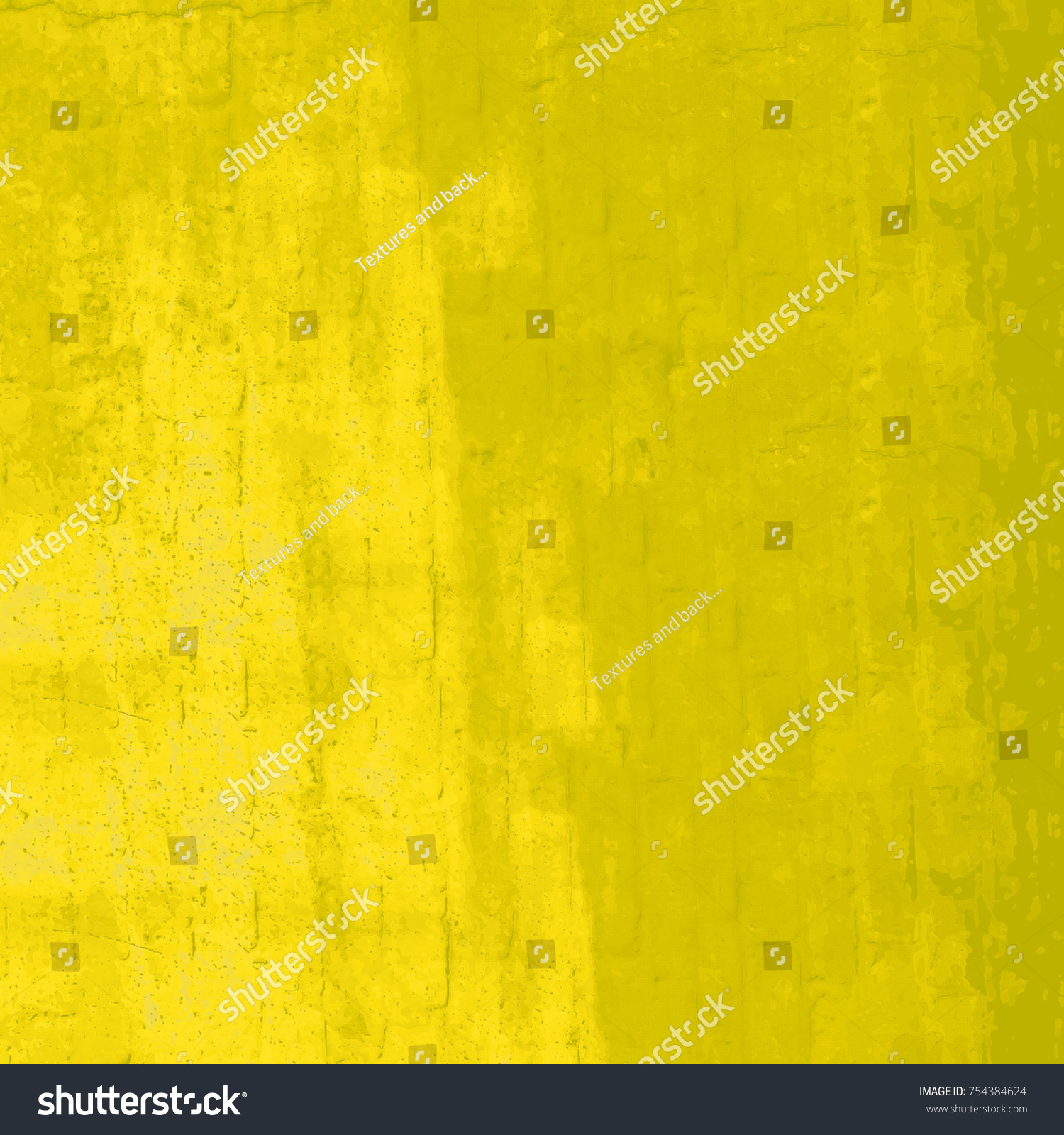 Yellow grunge background. The texture of the yellow paint from ...
