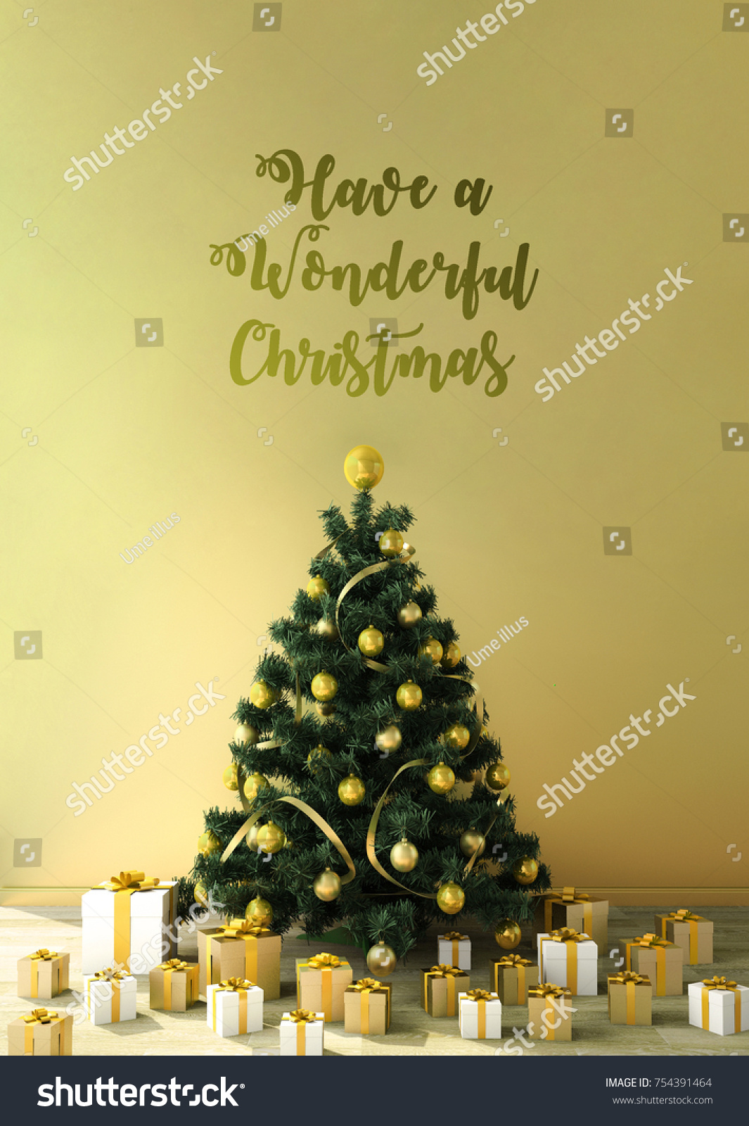 Work Space Copy Space Christmas Theme Stock Illustration 754391464 ...
