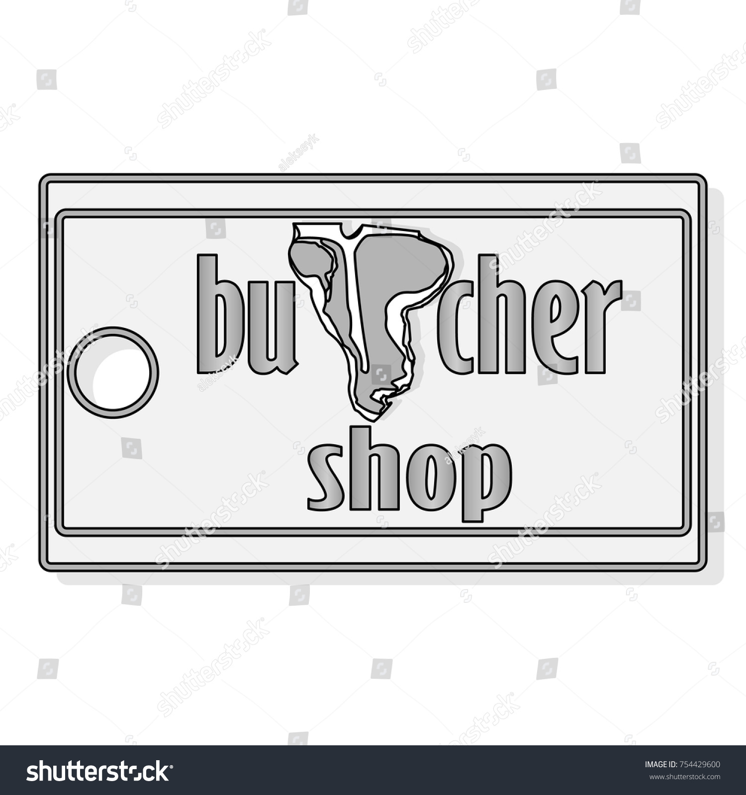 Steak House Meat Store Labels Emblems Stock Vector 754429600 ...