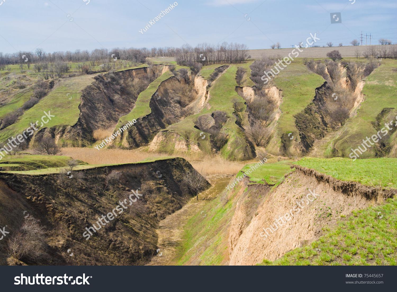 Soil erosion in ukraine stock photo 75445657 shutterstock for Soil in english
