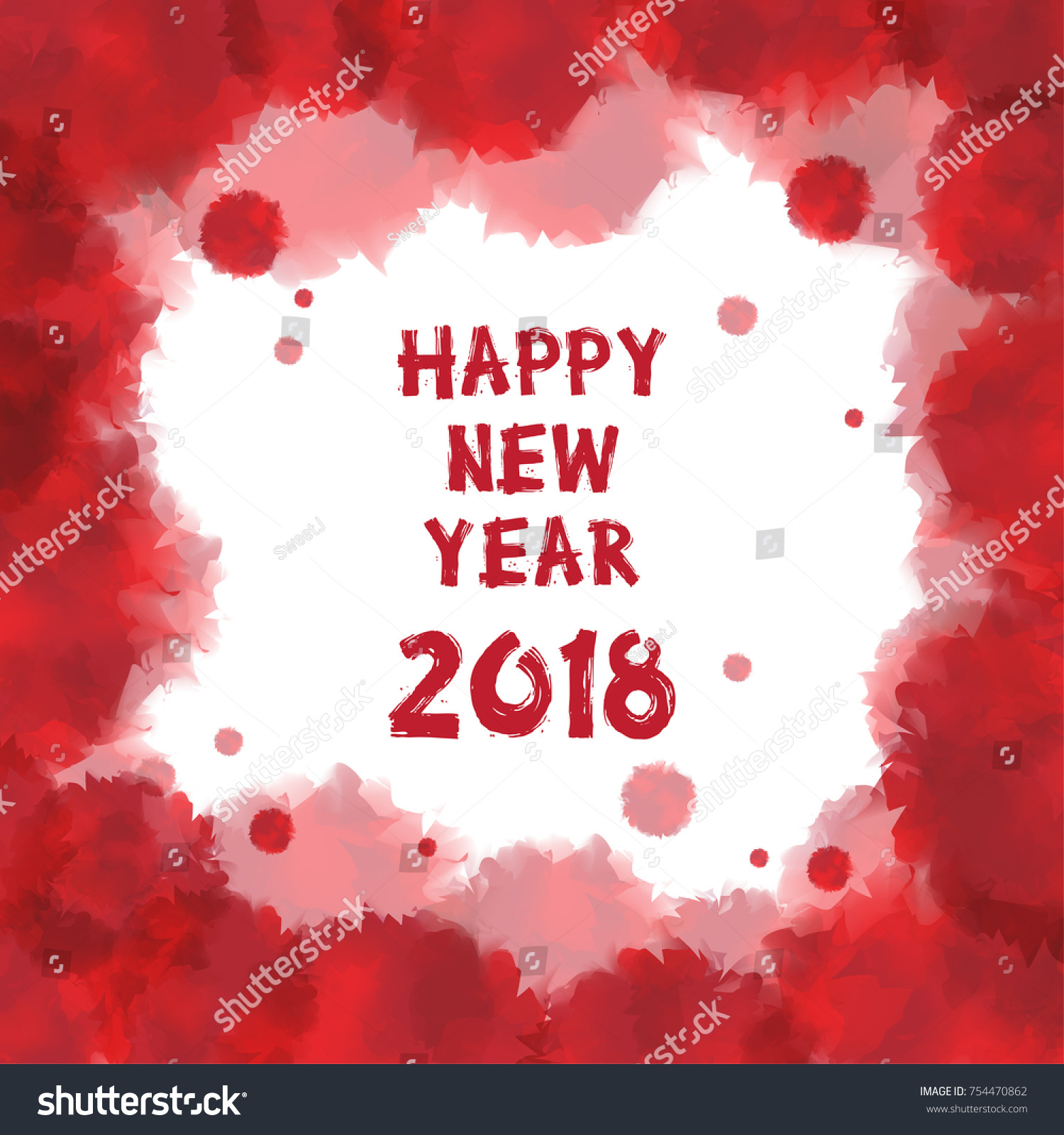 happy new year 2018 greetings card stock vector 754470862