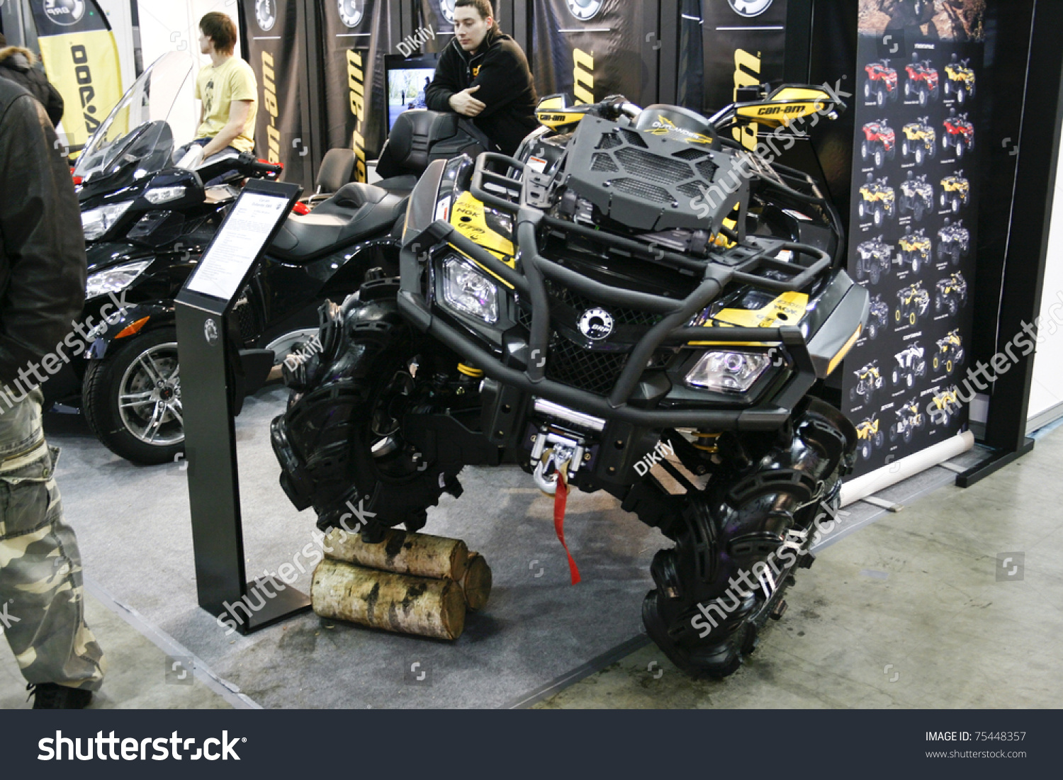 Moscow April 1 Quad Bike Brp Stock Photo 75448357 Shutterstock