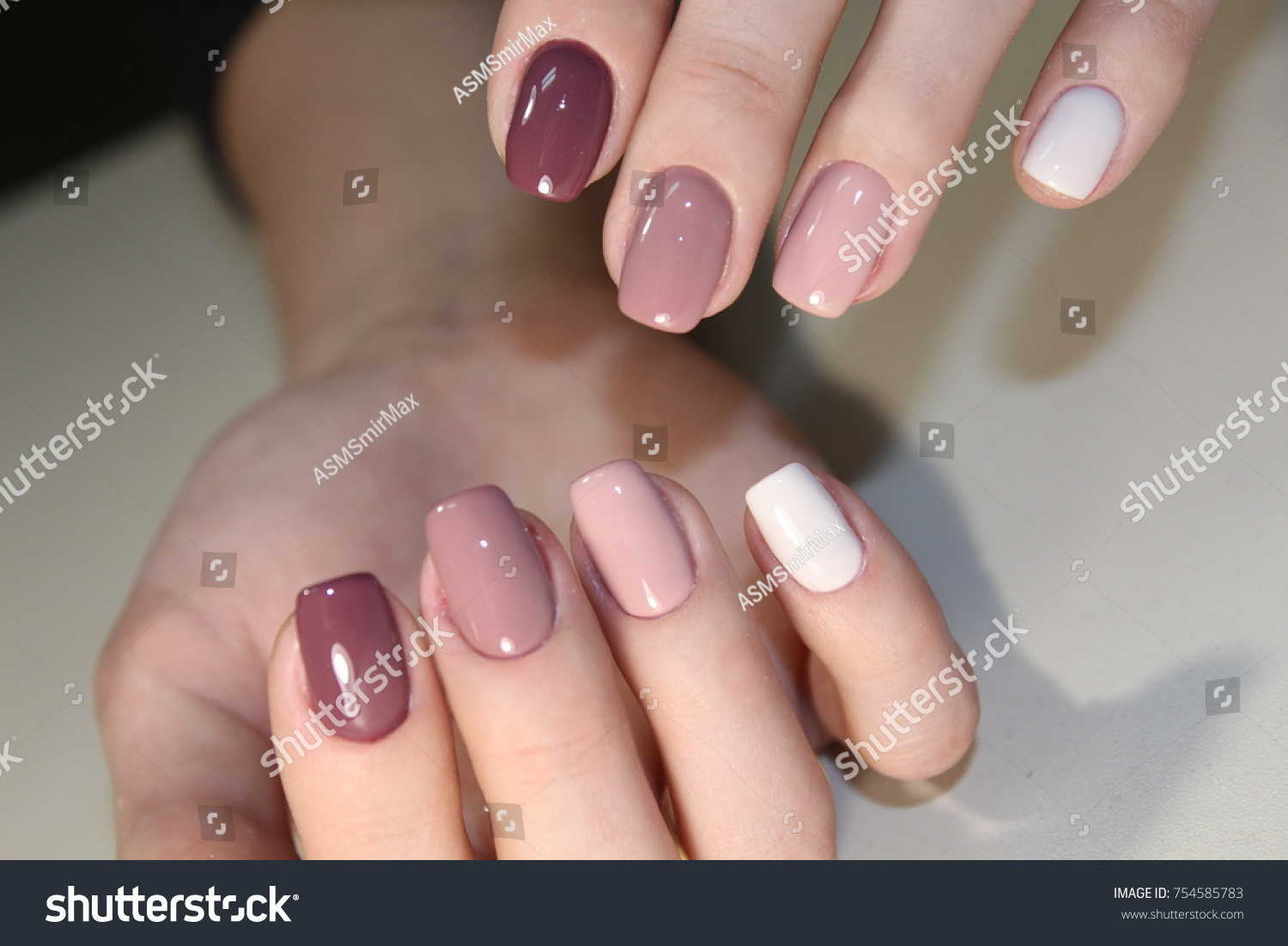 Nail Art Manicure Beauty Hands Trendy Stock Photo (Royalty Free ...