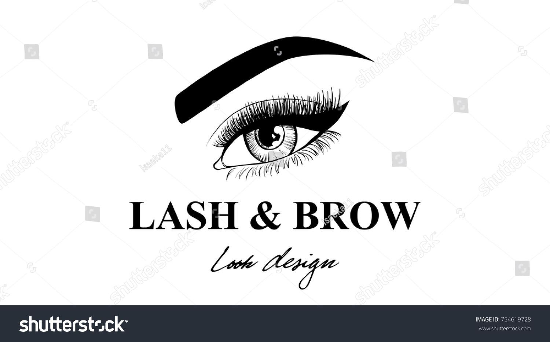 Luxury Beauty Eye Lashes Brow Business Stock Vektorgrafik