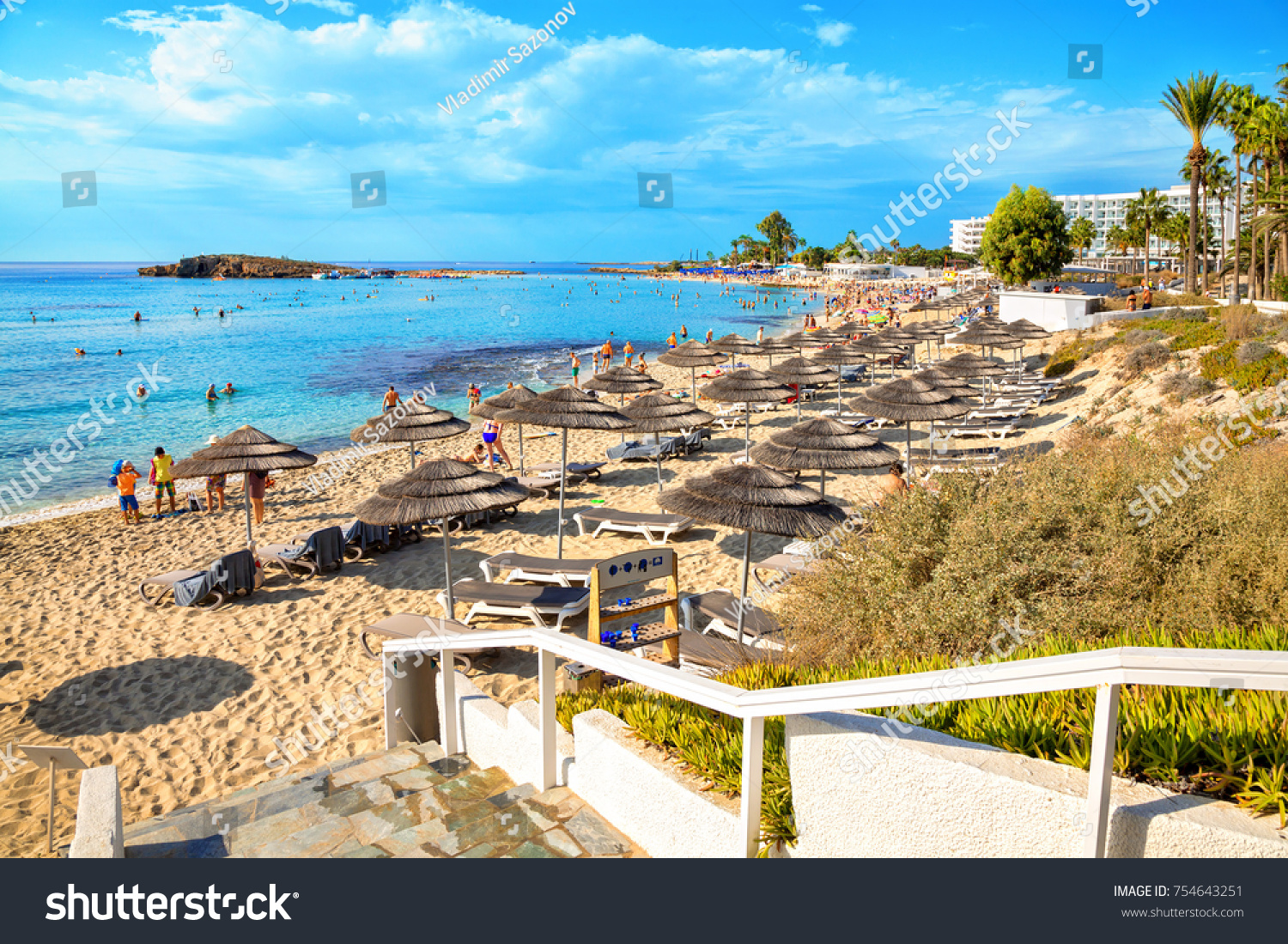 View Turquoise Water Nissi Beach Aiya Stock Photo (Royalty Free ...