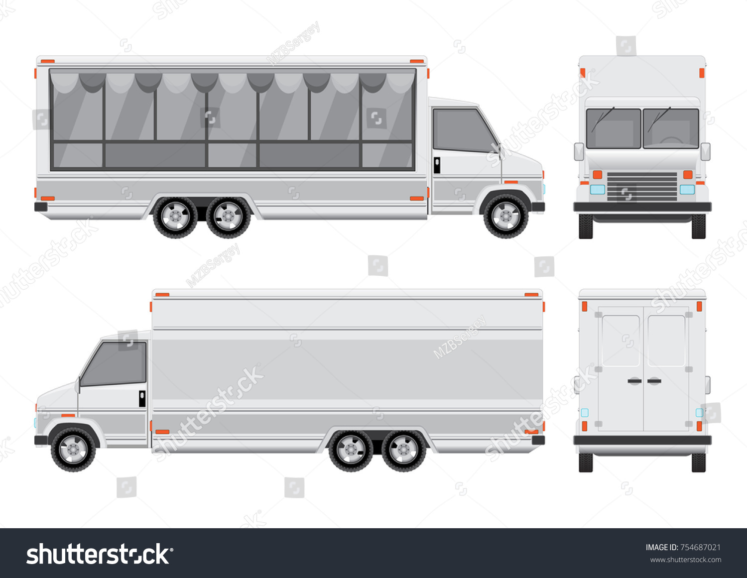 Vector food truck template mobile food stock vector 754687021 vector food truck template mobile food stall on a white background well organized pronofoot35fo Images