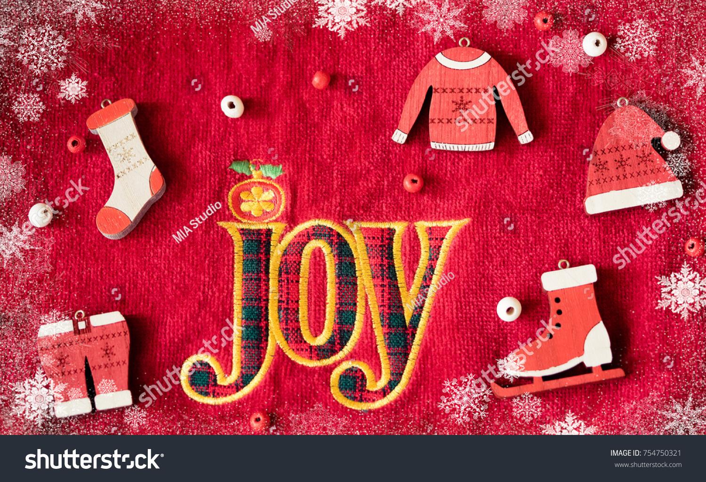 Word JOY Christmas Fashion Costume Decoration Stock Photo (Royalty ...
