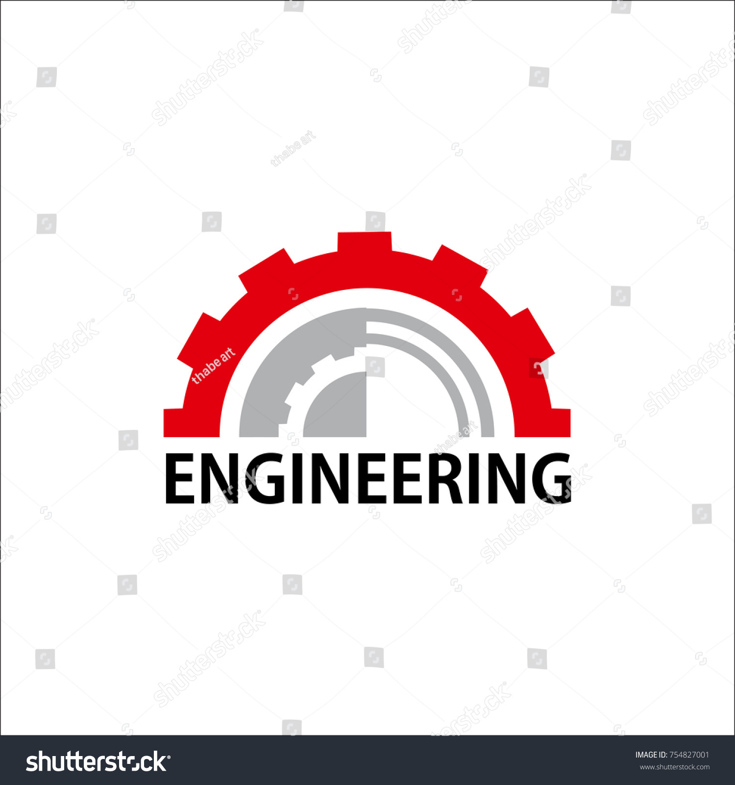 Engineering Logo Vector Design Template Stock Vector (Royalty Free ...