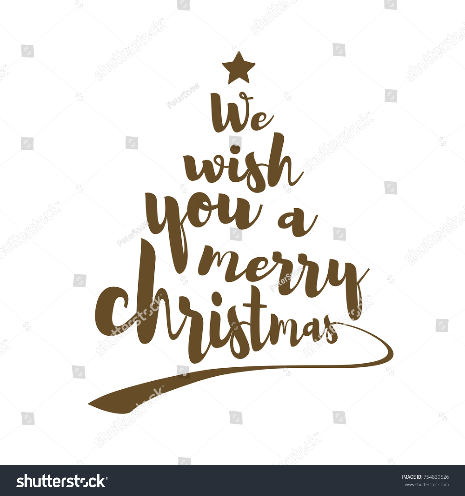 We Wish You Merry Christmas Quote Stock Vector (Royalty Free ...