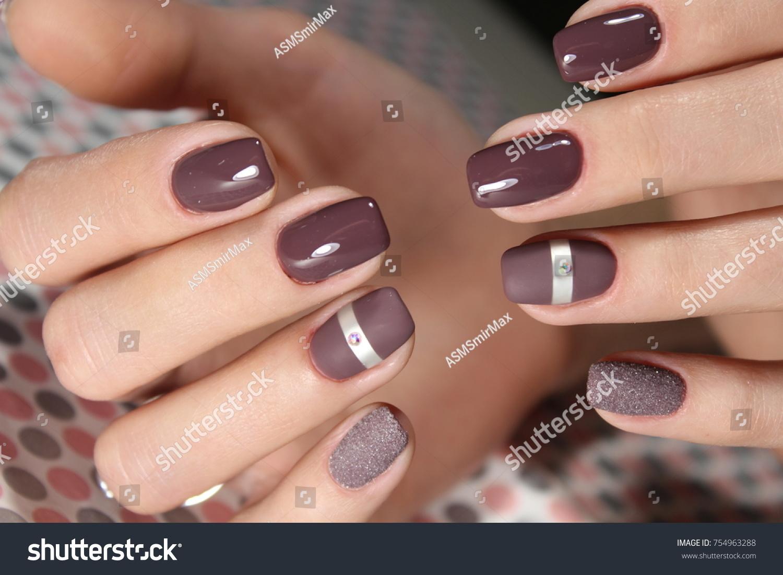 Fashion Nails Design Manicure Best 2017 Stock Photo (Royalty Free ...
