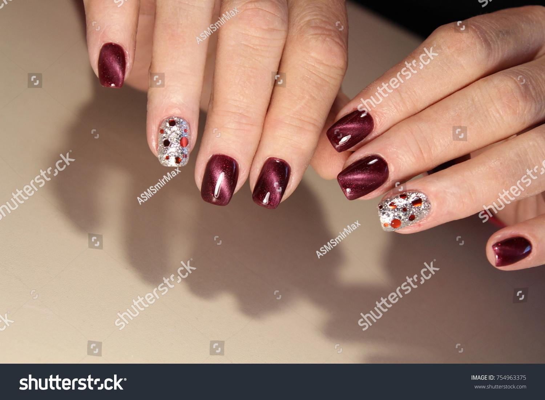 Fashion Nails Design Manicure Best 2017 Stock Photo 754963375 ...