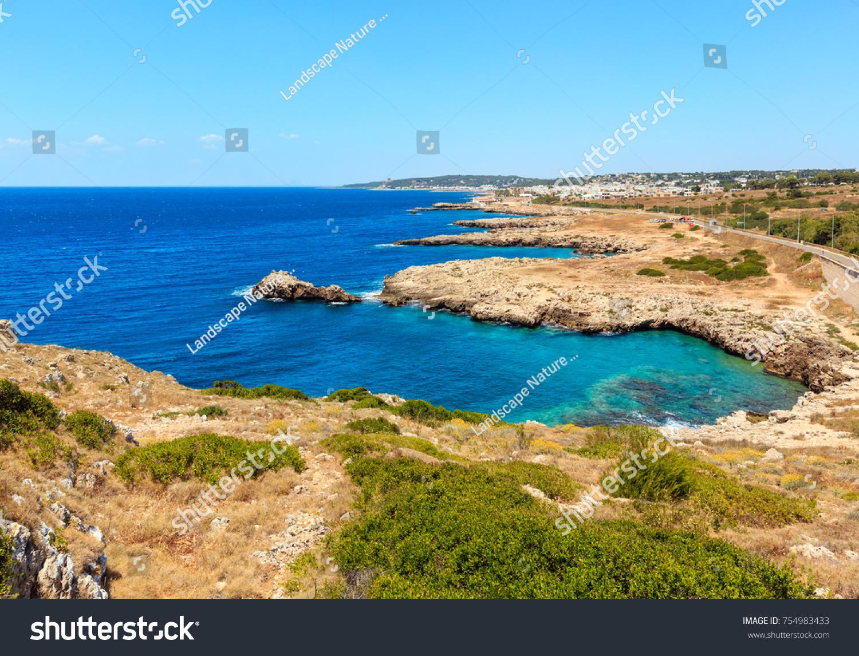 Picturesque Ionian Sea Coast Near Montagna Stock Photo 754983433 ...