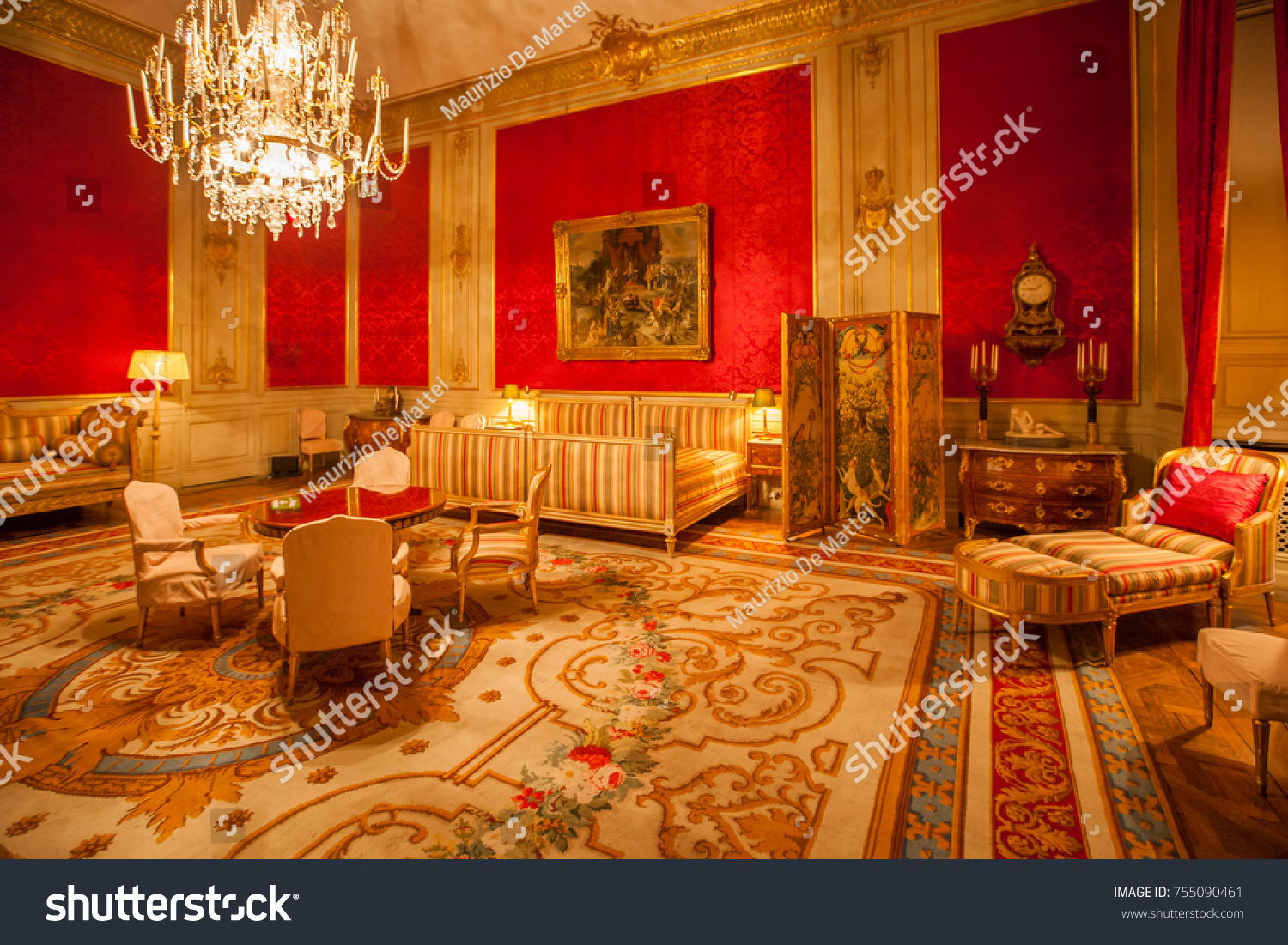 Stockholm circa march 2016 interior of the royal palace of stockholm sweden