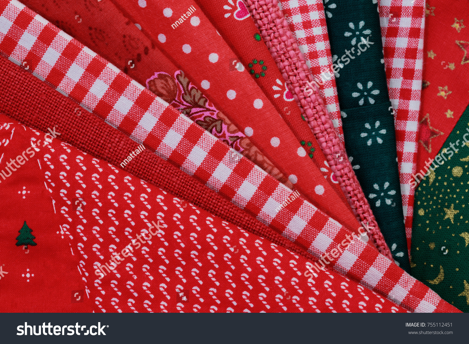 Christmas Cloth Napkins Folded Stack Like Stock Photo Edit Now 755112451