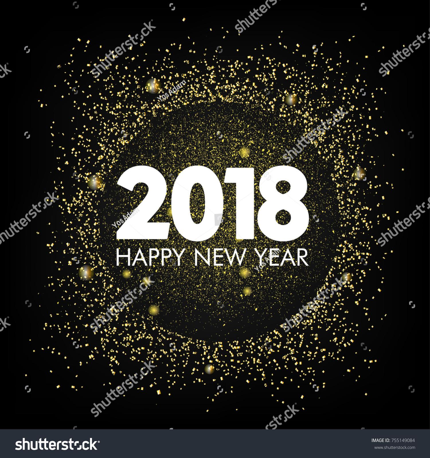 modern new year 2018 background ez canvas
