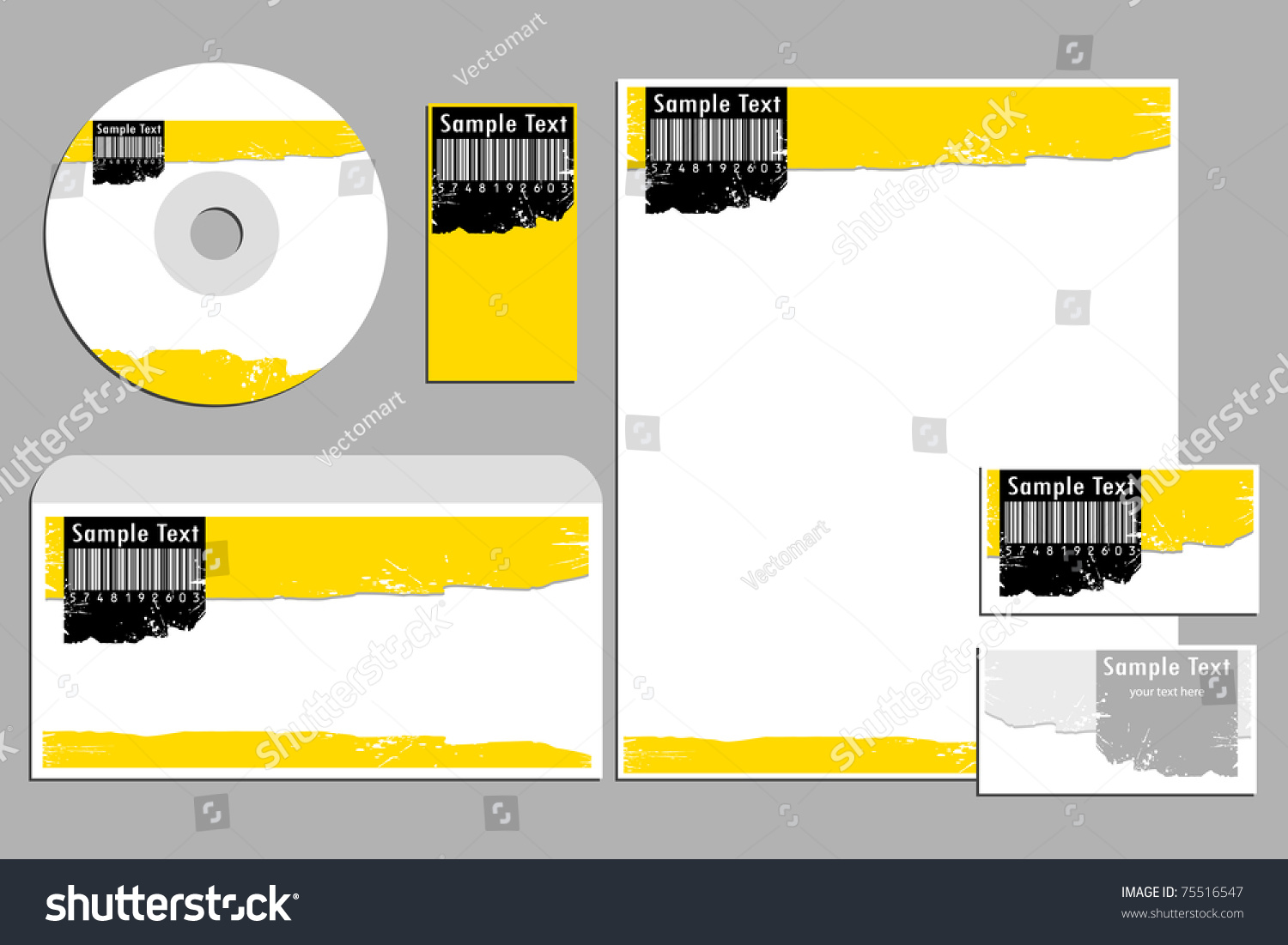 Illustration Barcode Business Template Business Cardcd Stock ...