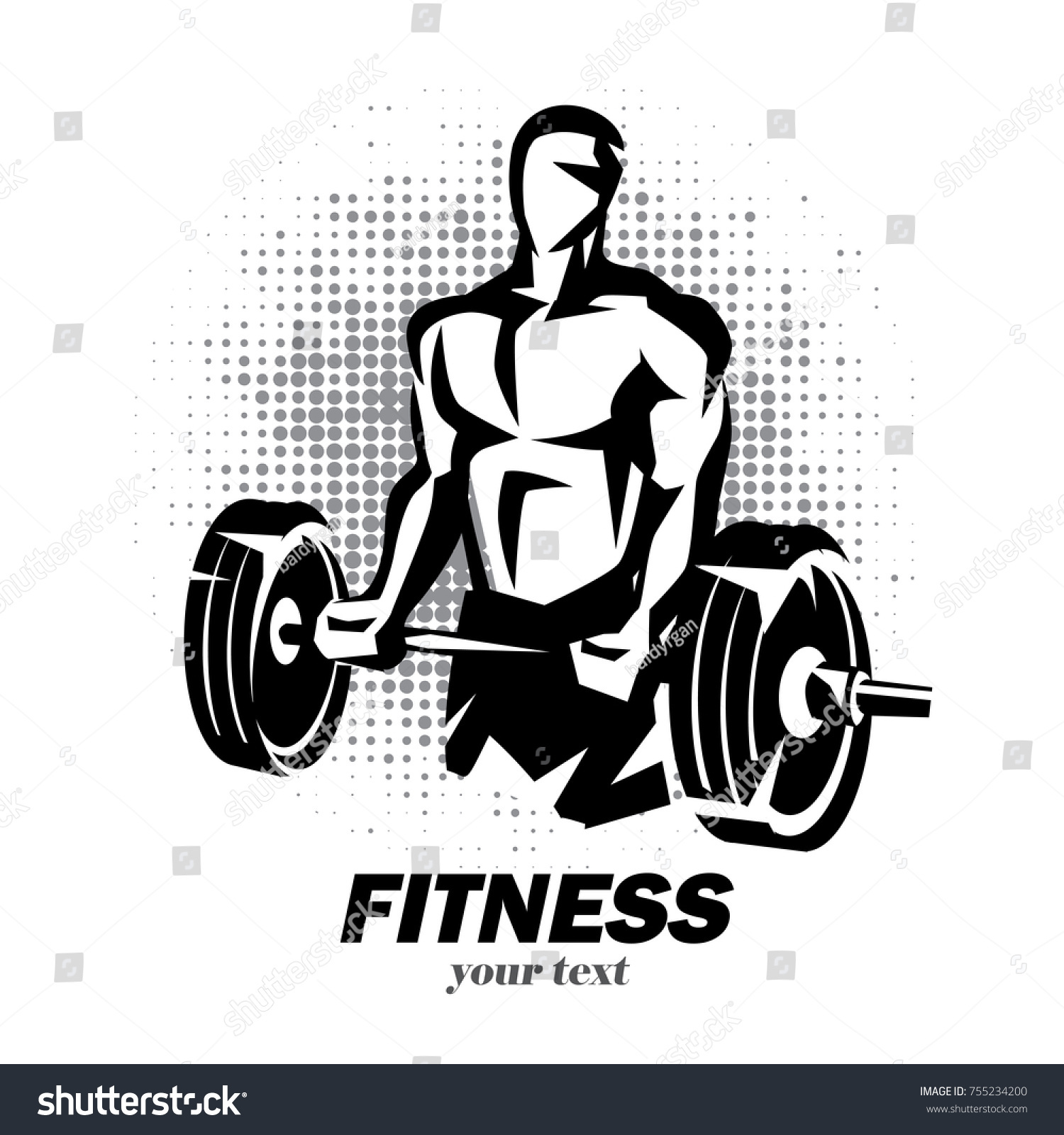 athlete barbell silhouette weight lifting logo stock vector rh shutterstock com weight lifting log weight lifting log sheet