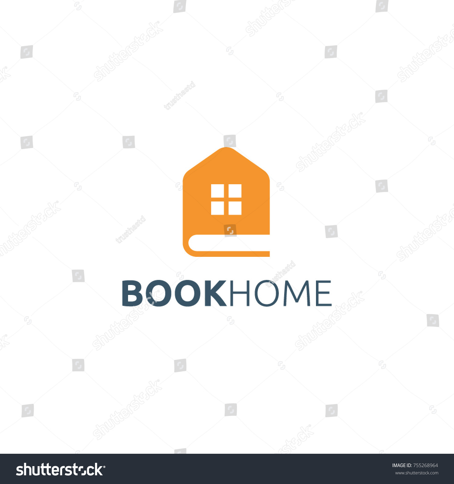 Book Home Logo Design Stock Vector 755268964 - Shutterstock