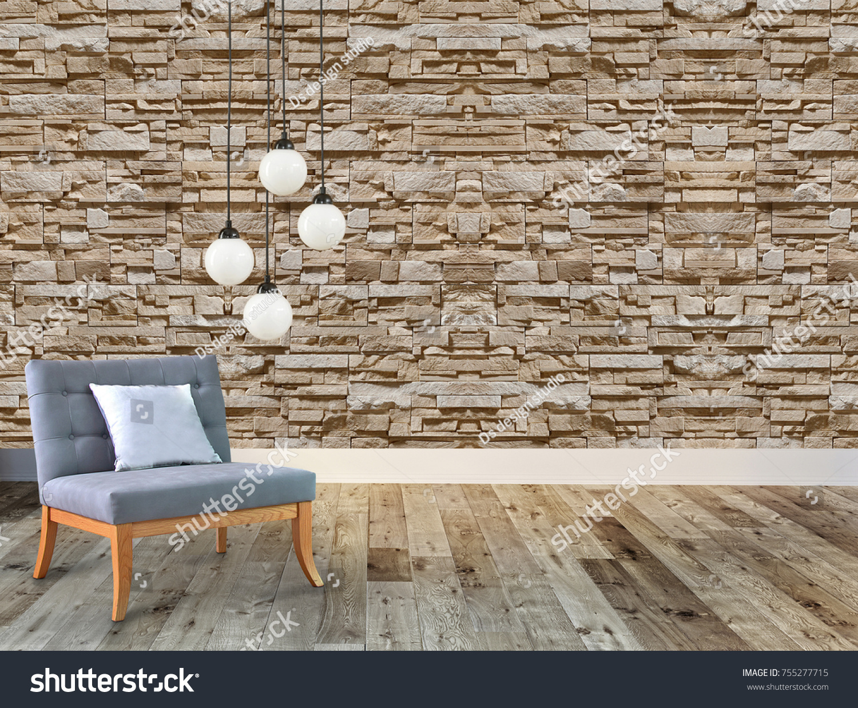 Swell Living Room Stone Wall Decorative Interior Stock Photo Edit Download Free Architecture Designs Saprecsunscenecom