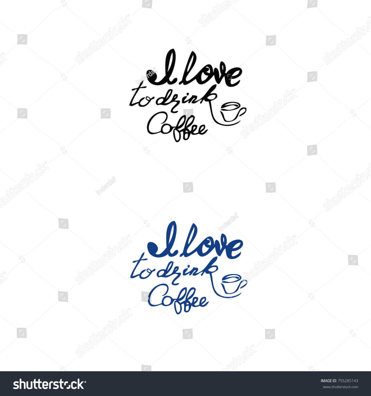 Quote Coffee Typography Coffee Shop Promotion Stock Vector Royalty