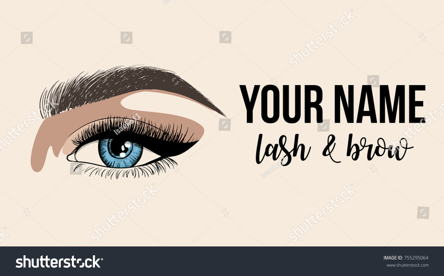 Lash Brow Business Card Logo Template Stock Vector Royalty Free Eyebrow Or With Woman Eye