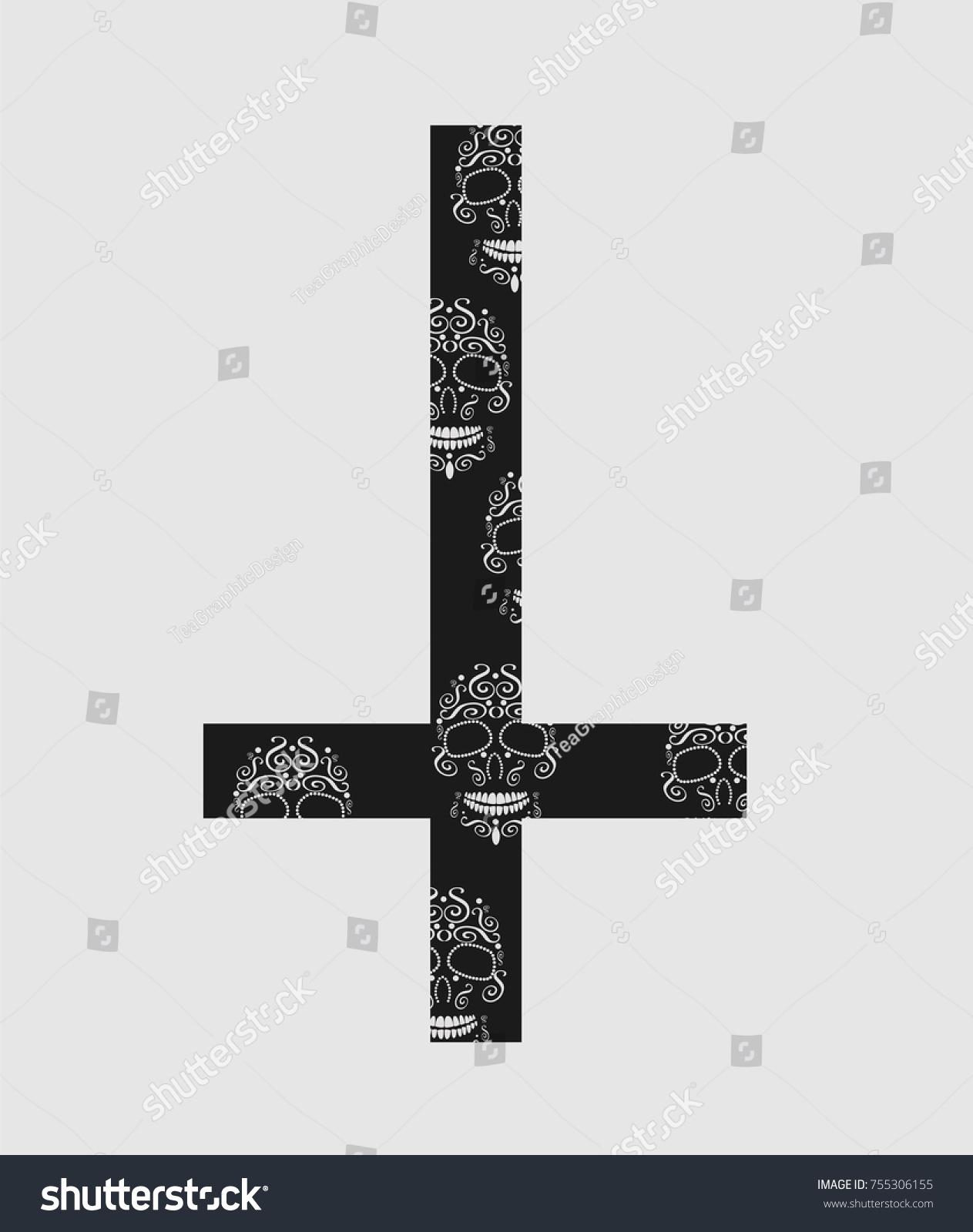 Upside down cross inverted cross cross stock vector 755306155 upside down cross inverted cross with cross biocorpaavc Choice Image