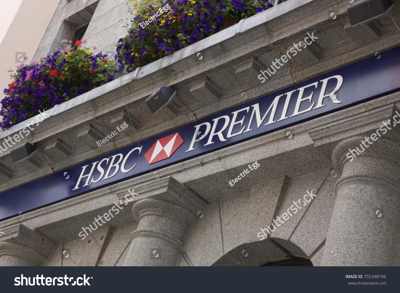 Hsbc Premier Bank Sign On High Stock Photo (Edit Now) 755348194