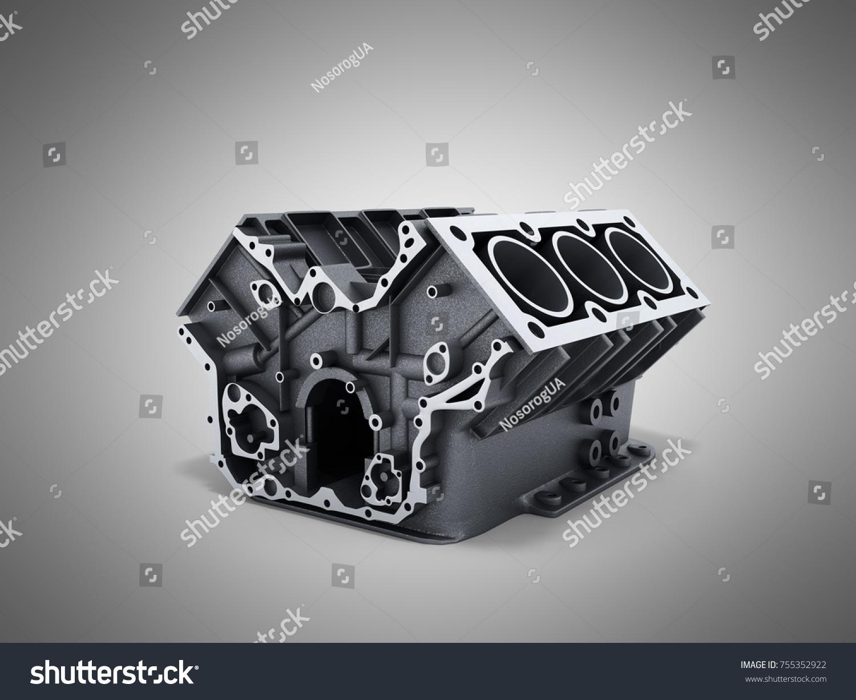 Cylinder Block Car V 6 Engine 3 D Stock Illustration 755352922 ...