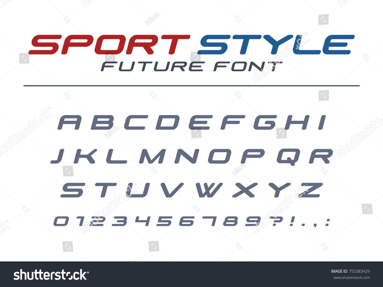 High Speed Universal Font Fast Sport Futuristic Technology Future Alphabet Letters
