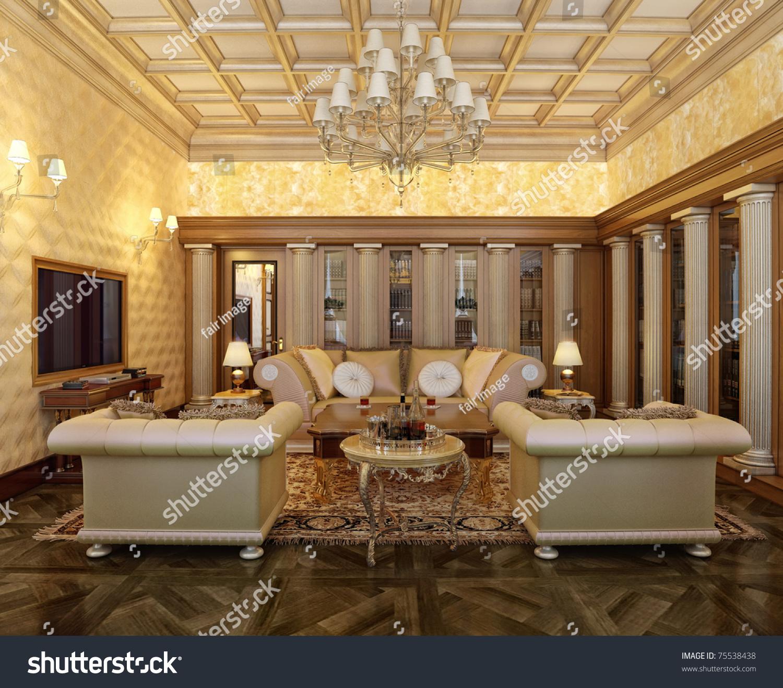 posh office furniture. Posh Office In A Classic Style Interior Design Idea. Style. Furniture I