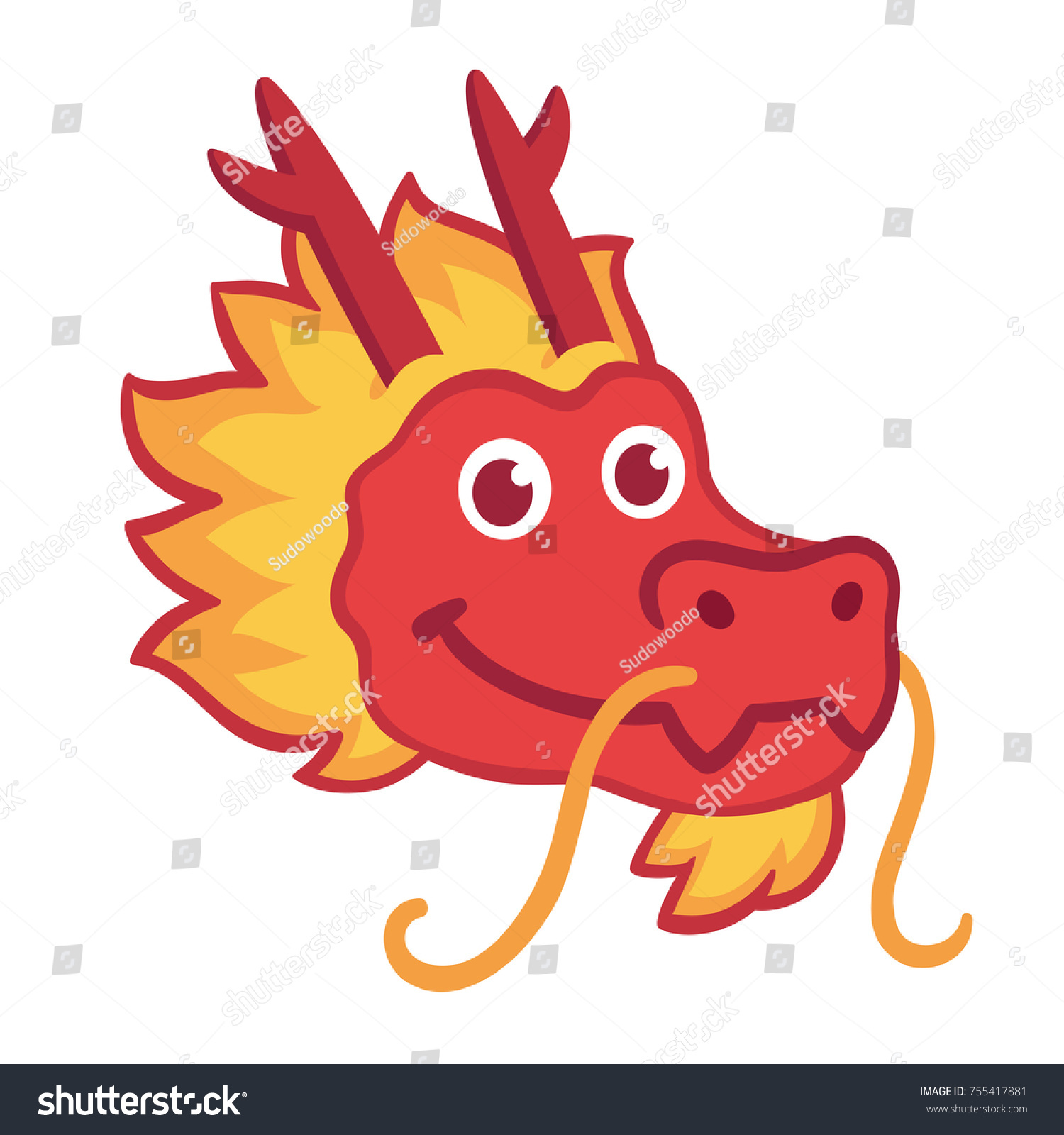 Chinese new year dragon symbol choice image symbol and sign ideas red chinese dragon head icon cute stock vector 755417881 red chinese dragon head icon in cute buycottarizona Gallery
