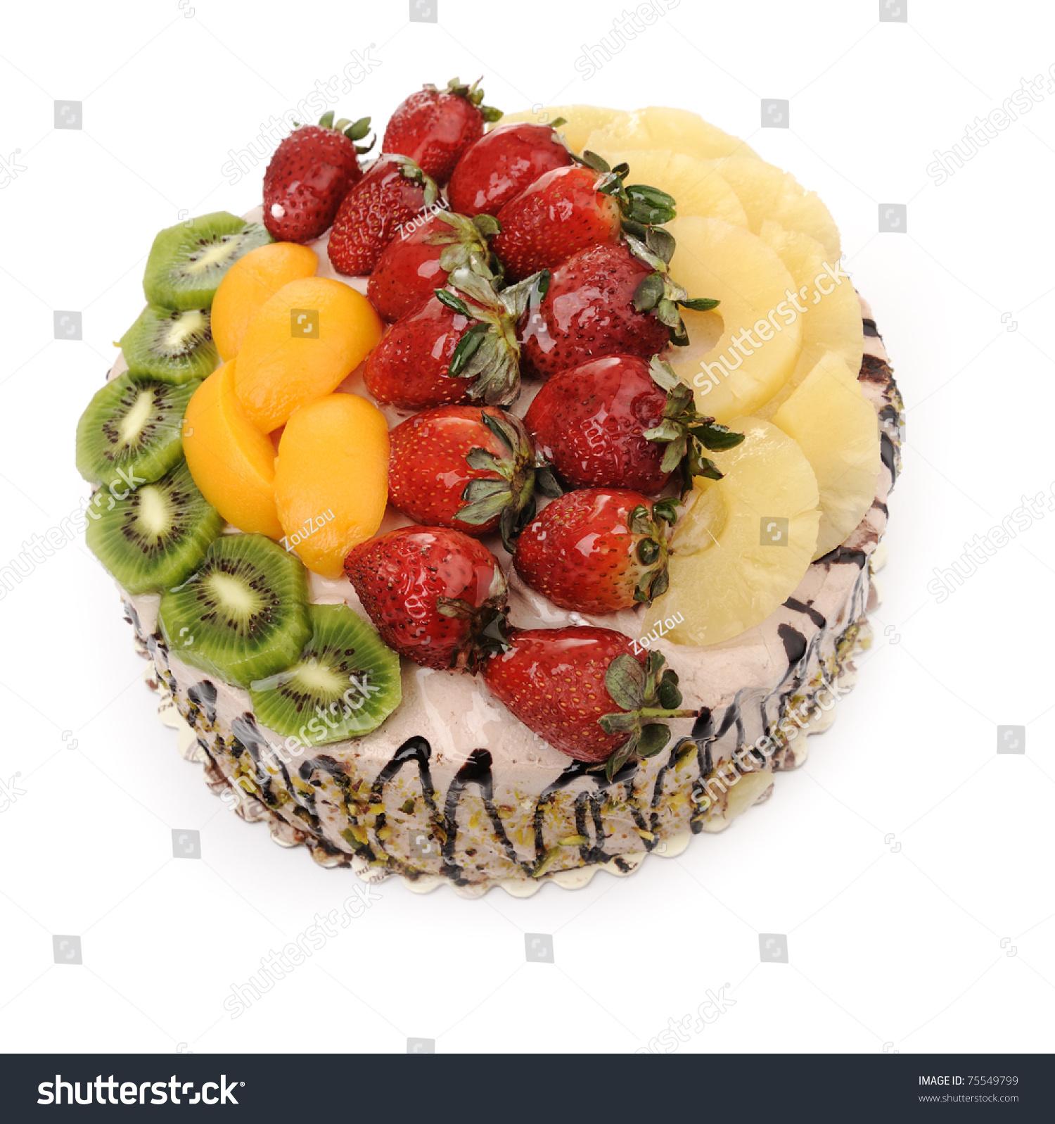 Beautiful Fruit Cake Images : Beautiful Decorated Fruit Cake Stock Photo 75549799 ...