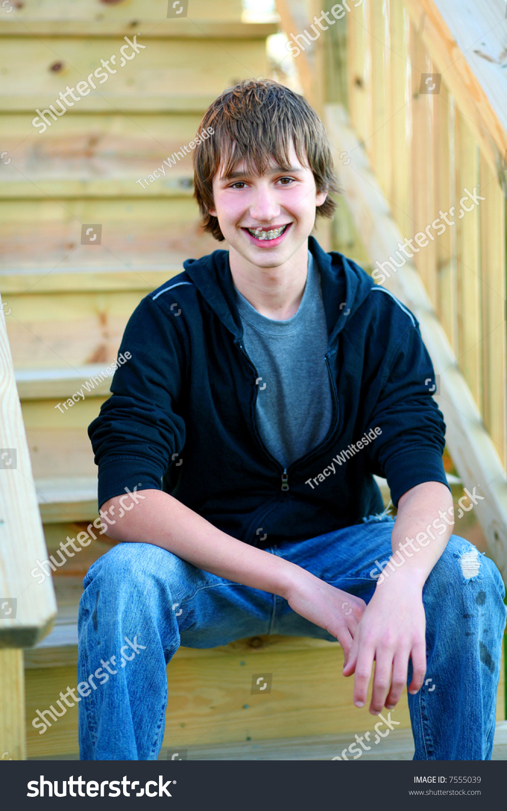 Handsome Teen Guy Model Seated On Stock Photo 7555039 - Shutterstock