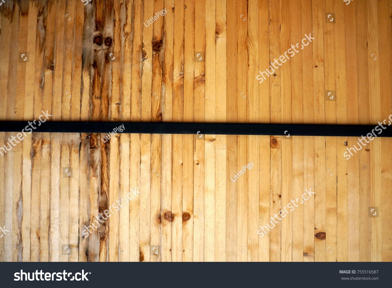 Wall Decoration Beautiful Wood Steel Beam Stock Photo 755516587 ...