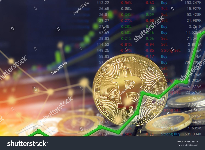 Bitcoin currency dollar btc market symbol stock photo 755585386 bitcoin currency and dollar btc market symbol cryptocurrency rising above the united states dollar buycottarizona