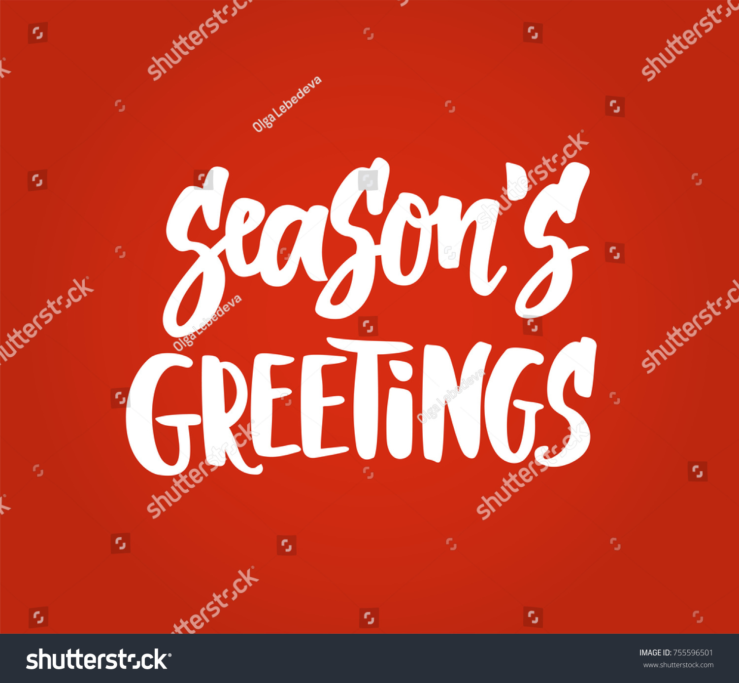 Christmas card seasons greetings text hand stock vector 755596501 christmas card with seasons greetings text hand drawn lettering holiday greeting quote on red m4hsunfo