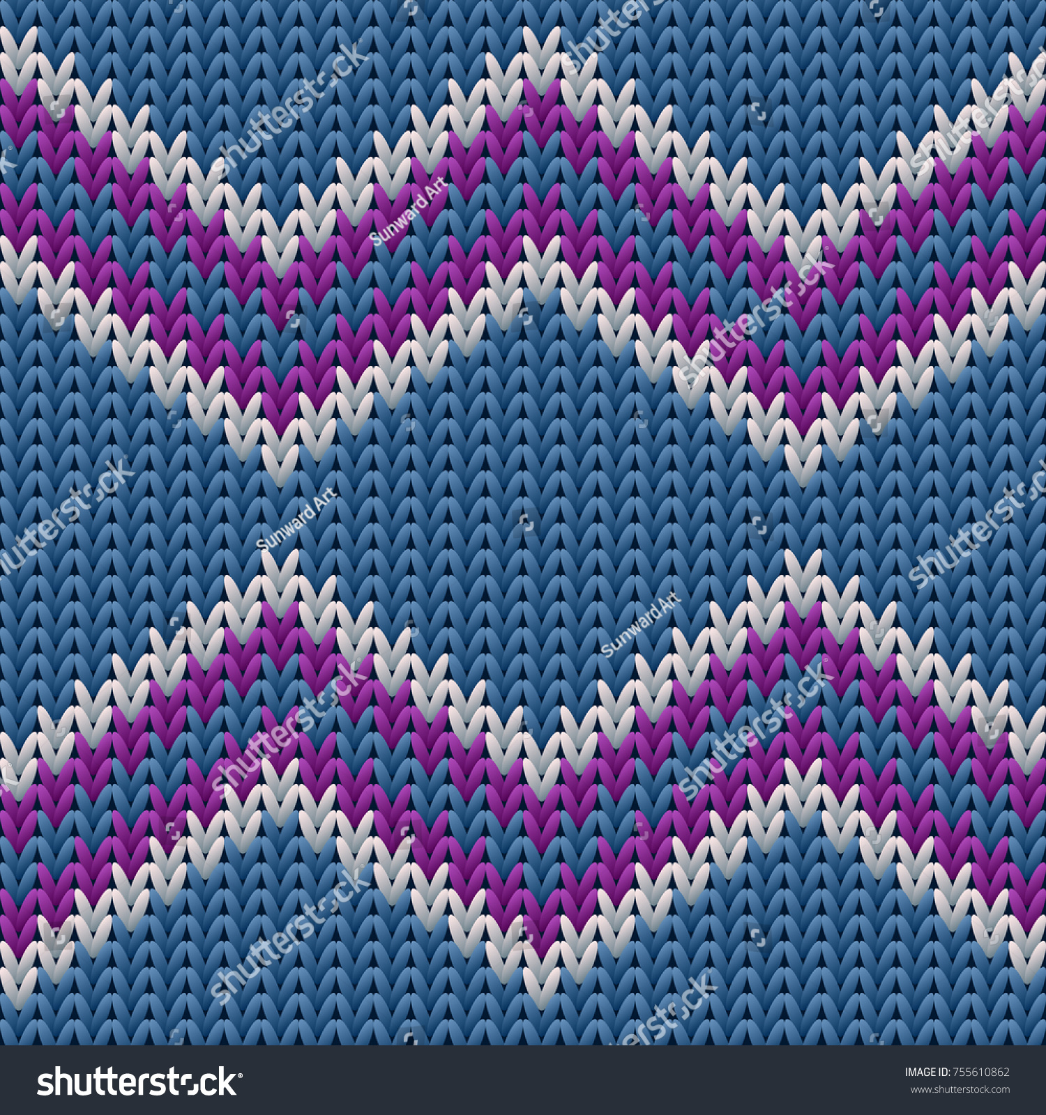 Knit Sweater With Zig Zag Pattern : Zigzag knitted background ugly sweater pattern stock