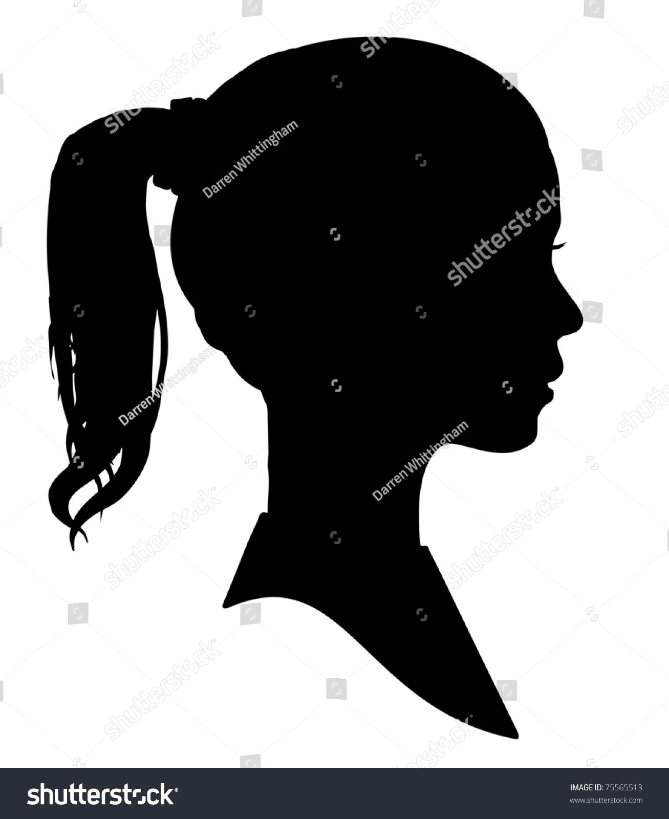 Silhouette Of A Girls Head Stock Photo 75565513 : Shutterstock |Girl Silhoutte