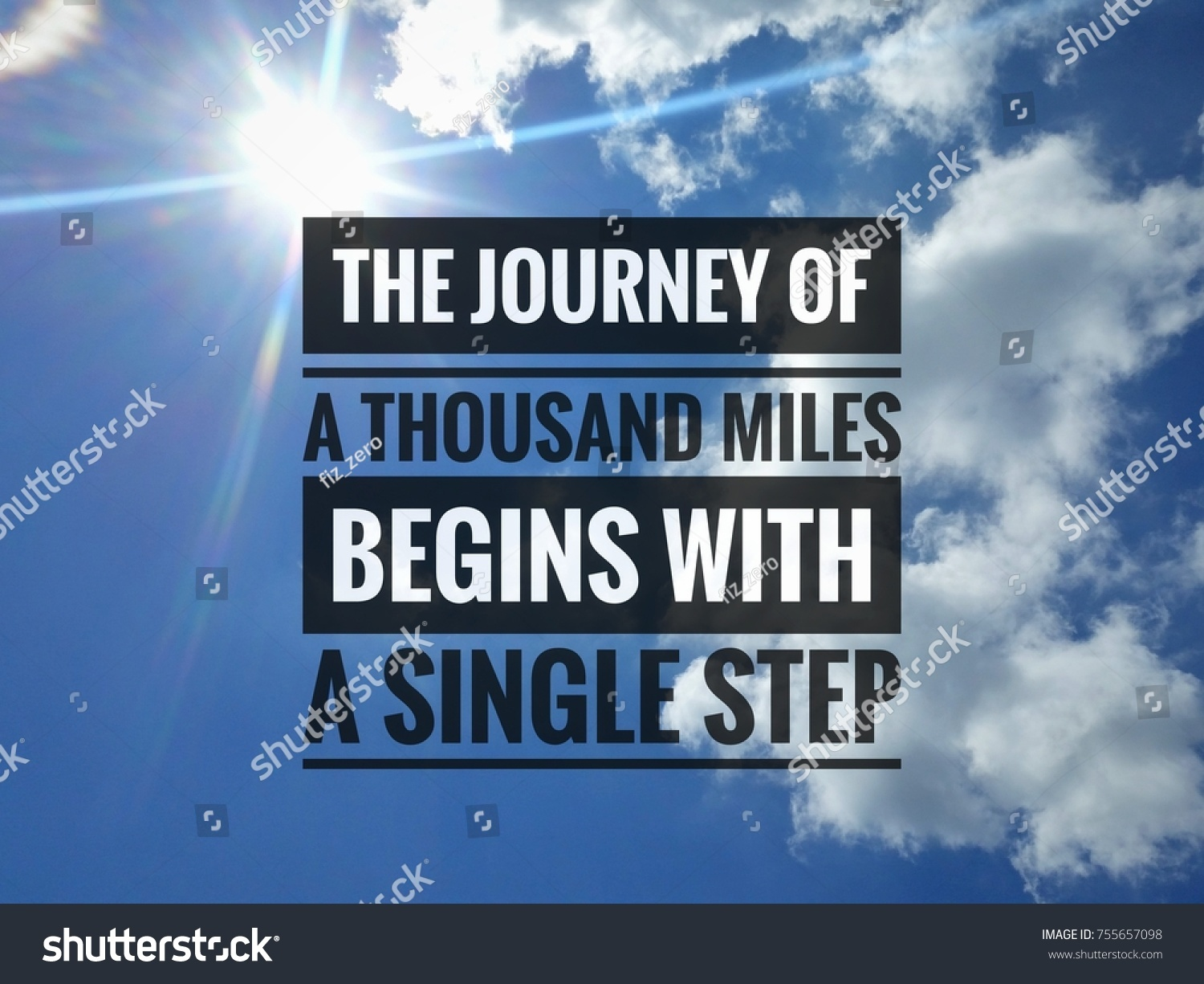 Life Journey Quotes Inspirational Inspirational Life Quote On Blue Sky Stock Photo 755657098